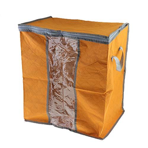 P Prettyia Bolsa para Guardar Ropa con Cremallera Compactor Funda de Tela para Viaje,48x28x50cm - Naranja