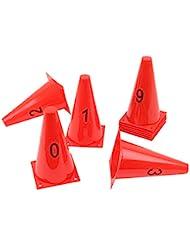 Lot de petits cônes – avec les nombres de 0 jusqu'à 9