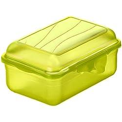 Rotho 1718905073Funbox-Portamerenda contenitore portapane, BPA e privo di sostanze nocive, prodotto in Svizzera, circa 12,5x 9x 5,8cm (LxPxA), verde Vesper Box, plastica, verde lime, 12x 9x 6cm