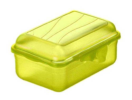 Rotho 1718905073 Funbox Vesperdose Brotdose, BPA- und schadstofffrei, hergestellt in der Schweiz, circa 12.5 x 9 x 5.8 cm (LxBxH), grün Vesperbox, Plastik, Lime Grün, 12 x 9 x 6 cm