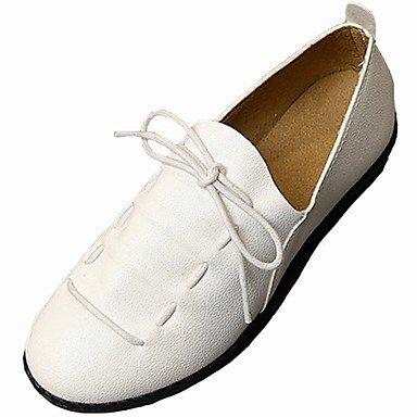 Wuyulunbi @ Chaussures Pour Femmes Pu Printemps Automne Comfort Flats En Blanc Extérieur, Blanc, Us8 / Eu39 / Uk6 / Cn39 Us8 / Eu39 / Uk6 / Cn39