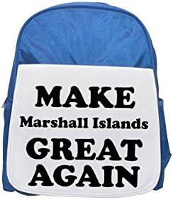 MAKE Marshall Islands GREAT AGAIN printed printed printed kid's Bleu  backpack, Cute backpacks, cute small backpacks, cute Noir  backpack, cool Noir  backpack, fashion backpacks, large fashion backpacks, Noir  fashion | Attrayant Et Durable  0ea5c5