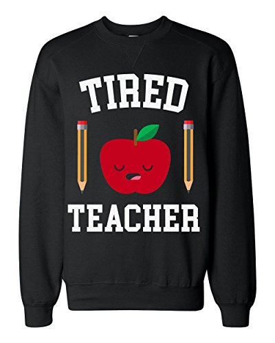 Tired Teacher Sleepy Apple With Pencils Classic Sweatshirt