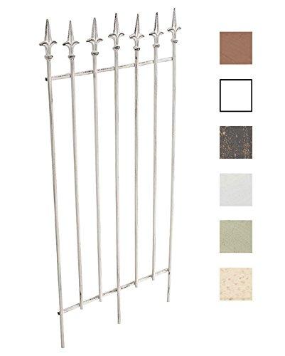 Clp griglia per piante rampicanti elisa in metallo - recinzione per rampicanti 100 x 50 cm i graticcio per fiori, in stile rustico i supporto per rose facilmente collocabile, in stile antico bianco antico