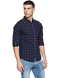 Spykar Men's Polka Dot Slim Fit Cotton Casual Shirt