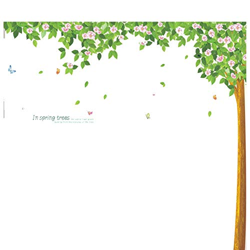 Wald Grün Schatten Tuch (QXTIE Entfernbare Wandaufkleber Wohnzimmer Esszimmer den Gang Wald grünen Schatten)