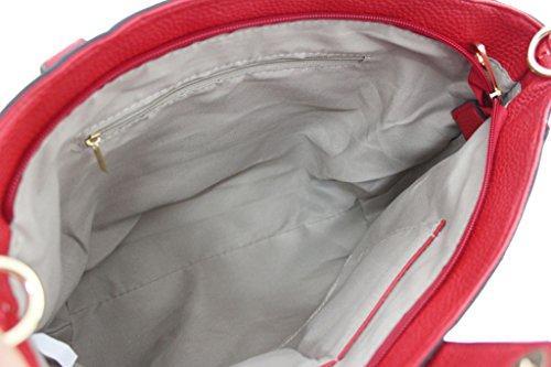 KUKUBIRD TRAPEZIUM SHAPE ECOPELLE DESIGNER borsa delle signore PINK