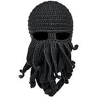 fashionclubs mujeres hombres invierno cálido pulpo entacle Beanie viento máscara gorro de punto Cthulhu Fisher Cap