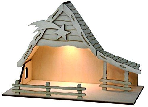 Weihnachtkrippe Bethlehem mit Solarbeleuchtung
