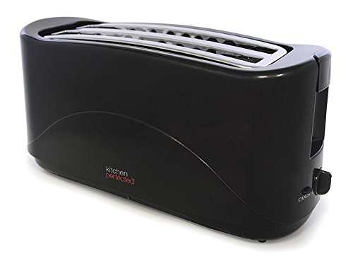 41X8Ba6%2BneL - BEST BUY #1 KitchenPerfected 4 Slice 1300w Toaster - Black Reviews and price compare uk