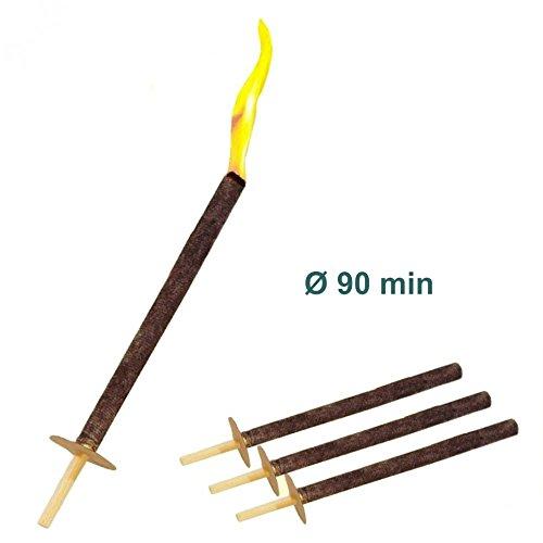 10 Wachsfackeln Brenndauer 90 min Fackeln für Umzüge Fackel