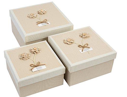 Emartbuy Set Mit 3 Starren Luxus Quatratische Präsentation Geschenkbox
