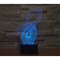 Wuqingren Light Touch Desktop Lamps Touch Switch 3D Lamp Vision Stereo Lamp Seven Color Change Home Decoration,A3,Bluetooth speakers