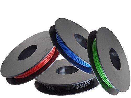 LiYv Schaltlitzen-Sortiment, 0,25 mm², Kupfer verzinnt, 4x 25 m Spulen, rot/schwarz/grün/blau -