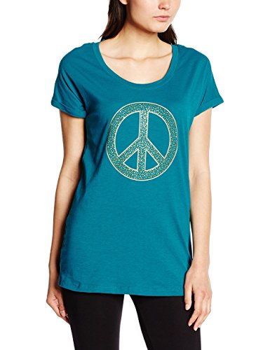 Mandala peace tee t-shirt pour femme Vert - Indian Green
