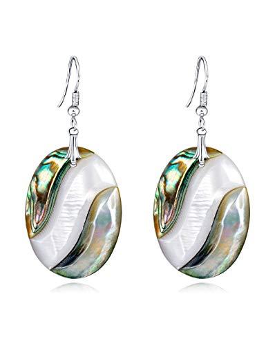 Wsqjpeh888 orecchini di moda creativa geometrica serie shell selvatici, orecchini donna ondulazione orecchini semplice ufficio shopping viaggio regalo di compleanno gioielli orecchio (colore : a)