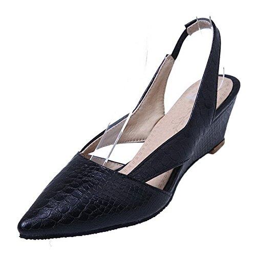 Talon à Bas Texturé Tire Noir VogueZone009 PU Légeres Cuir Femme Chaussures Oqpwng