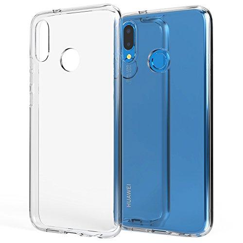 NALIA Handyhülle kompatibel mit Huawei P20 Lite, Soft Slim TPU Silikon Case Cover Crystal Clear Schutzhülle Dünn Durchsichtig, Etui Handy-Tasche Backcover Transparent, Smart-Phone Schutz Bumper Zubehör-soft Case
