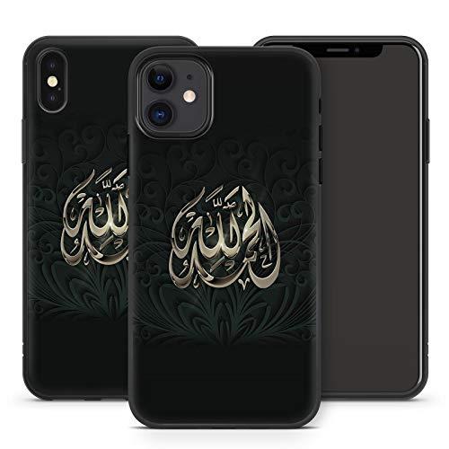 Handyhülle Allah für Apple iPhone Silikon MMM Berlin Hülle Gott Muslim Mecqua Koran Islam Gott, Hüllendesign:Design 2 | Silikon Schwarz, Kompatibel mit Handy:Apple iPhone 11 Pro