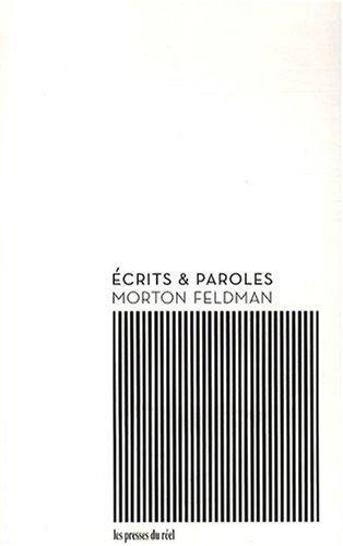 Ecrits et paroles par Morton Feldman