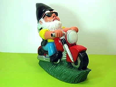 Gartenzwerg Biker Zwerg mit schwarzer Mütze von frustzwerg-de auf Du und dein Garten