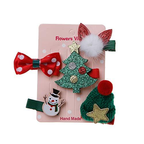5 Teile/Satz Kinder Haarspangen Weihnachten Baby Mädchen Krone Tiara Haarnadel Haarspangen
