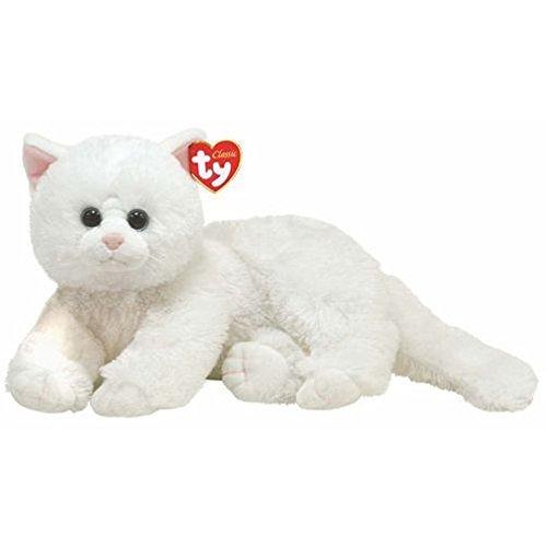 Ty 10036 - Gato de peluche en color blanco Crystal [importado de Alemania]