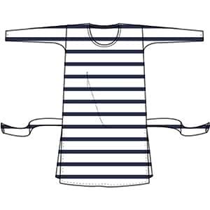 Petit Bateau - Tunique ceinturée manches longues Marinière Future Maman - Taille 3 - Blanc rayé Bleu