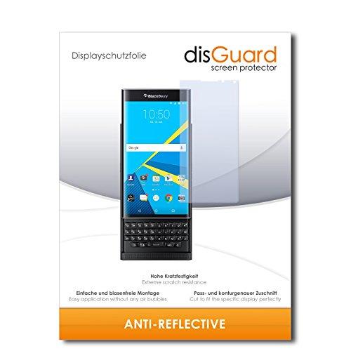 disGuard® Bildschirmschutzfolie [Anti-Reflex] kompatibel mit BlackBerry Priv [4 Stück] Entspiegelnd, Matt, Antireflektierend, Extrem Kratzfest, Anti-Fingerabdruck - Panzerglas Folie, Schutzfolie