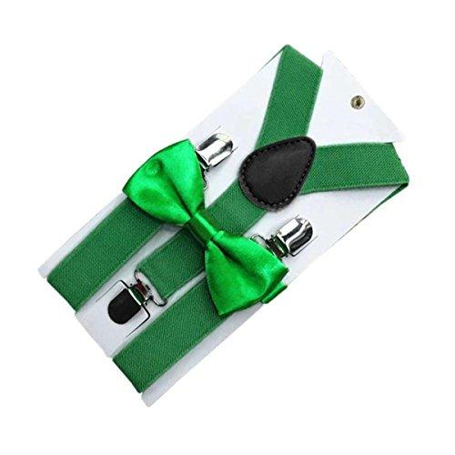 Boys Hosenträger Tie Bow (ECYC® Mode verstellbare elastische Jungen Mädchen Hosenträger Fliege Kinder Hosenträger)