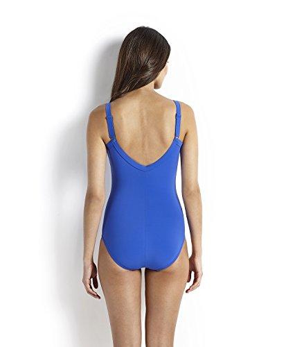 Speedo Spdscu Watergem Aj Af, Costume da Bagno, Adulto, Colore: Blu (Deep Peri), Taglia 48 (taglia produttore: 42) Blu (Deep Peri)