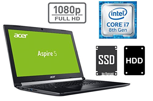 "Notebook ACER A517 - CORE i7 - 16GB DDR4-RAM - 256GB SSD + 1TB HDD - Windows 10 PRO - 44cm (17.3"") Full HD Display MATT"