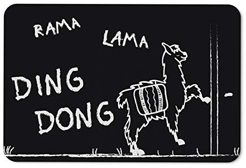 Tassenbrennerei Fußmatte mit Spruch Rama Lama Ding Dong - Türmatte lustig - waschbar und langlebig