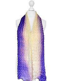 Écharpe en soie, 100% soie, froissement style, coloré, soie fait à la main