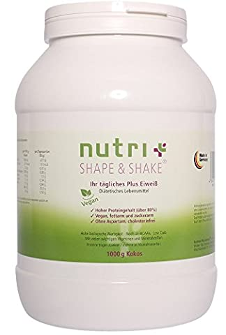 Nutri-Plus Shape & Shake Vegan Coconut 1000g - Without aspartame, lactose, cholesterol and lactoprotein
