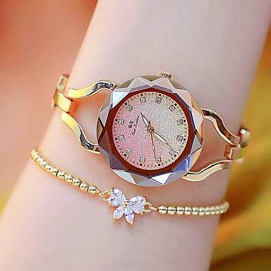 XKC-watches Herrenuhren, Damen Uhr Armbanduhr Goldene Uhr Japanisch Quartz Legierung Silber/Gold/Rotgold Leuchtend Armbanduhren für den Alltag Analog Freizeit Modisch Gold Silber Rotgold/Zwei j