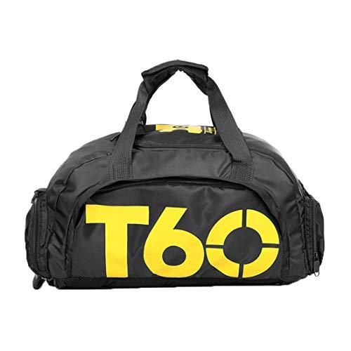 Haoda Duffle Bag Wasserdicht Sporttasche Damen Fitness Tasche Herren Reisetasche Tragbar Gepäck Ausflug Reisegepäck Groß Gym Bag mit Schuhfach Multifunktional Schulter Rucksack (Gelb)