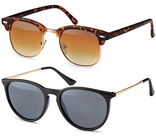 Vintage Sonnenbrille im 2er Set im 60er Style - Retro Brille (Set 1)