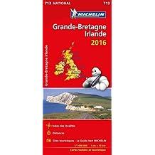 Carte Grande-Bretagne, Irlande 2016 Michelin