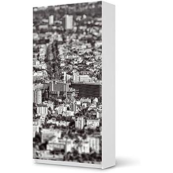 Creatisto Möbelfolie Für IKEA Pax Schrank 201 Cm Höhe   2 Türen | Möbeldeko  Klebesticker Tapete Folie Möbel überkleben | Wohnen U0026 Dekorieren  Schlafzimmer ...