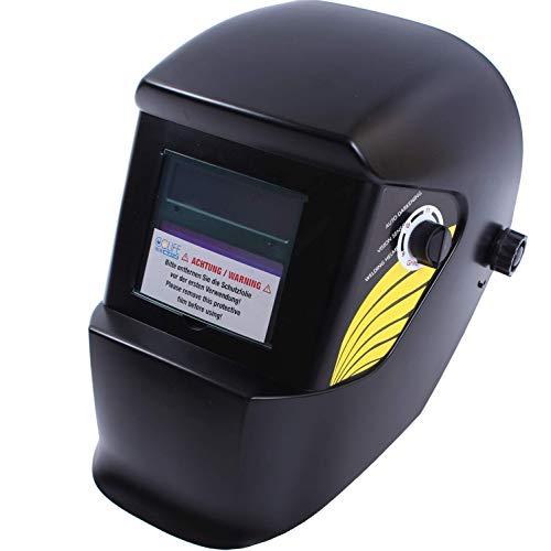 CCLIFE Automatik Schweißhelm Schweißmaske Schweißschirm, Farbe:Schwarz