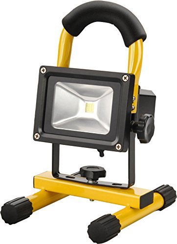Extol Light Tragbare 10 W Akku-LED-Lampe für Innen und Aussen als Baulicht, 1 Stück, gelb, 43122