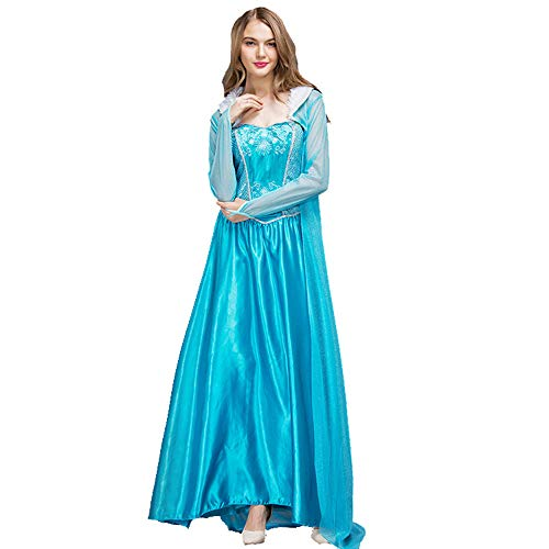 BESTSOON-TGA Erwachsenen-Kostüm ELSA Schneeflocke, Halloween-Kostüm, Cosplay für Halloween, Polyester, XL (Schneeflocke Kostüm Für Erwachsene)