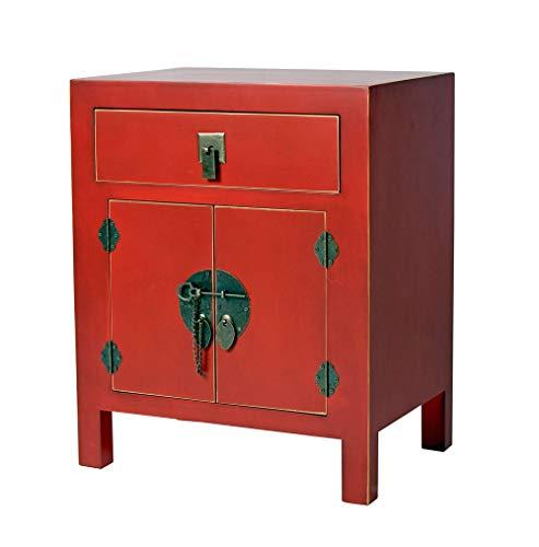 China Nachtkonsole Rot Nachtschrank chinesischer Hochzeitsschrank Nachtkommode mya009 Palazzo Exklusiv
