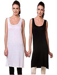 TeeMoods Women's Cotton Chemise/Long Slip/Suit Slip Nighty-Pack of Two/Three