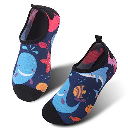 JIASUQI Baby Aqua Schuhe Schnelle Trockene Wasser Sportschuhe für Strand Pool Schwimmen Delphin, 18/19 EU