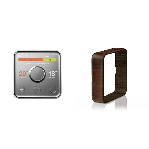 Hive 2 - Active Heating and Hot Water without installation with Wood Effect Frame (works with Amazon Alexa)