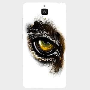 Back cover for Xiaomi Mi4 Tiger Eye