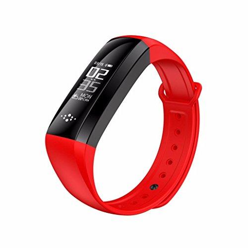 Für Sport Activity Tracker Pedometer M2S Smart Armband Herz Rate Monitor Smart Armband Fitness Tracker, rot