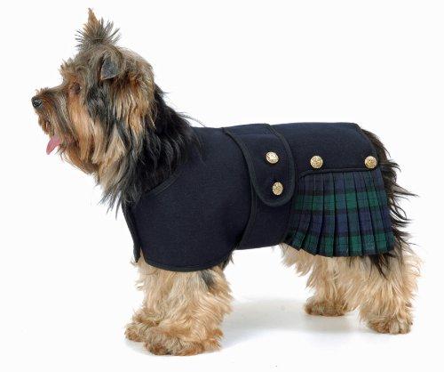 Abrigo para Perro con Falda Escocesa de Cosipet